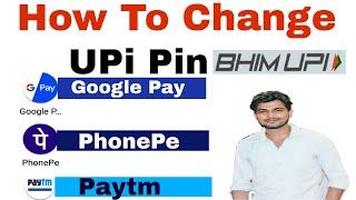 Google pay, Paytm, PhonePe का Bhim UPi Pin Change कैसे करते हैं?    Technic Shreemaji