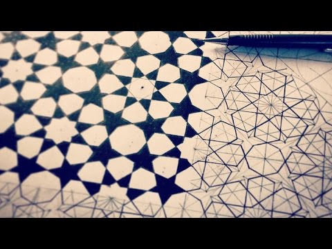 8 Fold Rozette Tiling ✸ Islamic Geometric Patterns - [ HOW TO DRAW ]