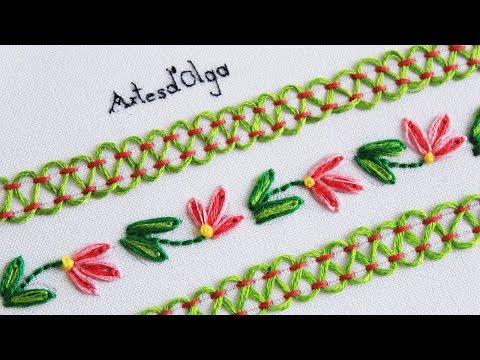 Bordado a Mano Paso a Paso: Puntadas Decorativas #11 | ArtesdOlga
