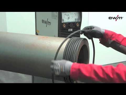 Entmagnetisieren von Rohren und Blechen / Degaussing of pipes and metal sheets