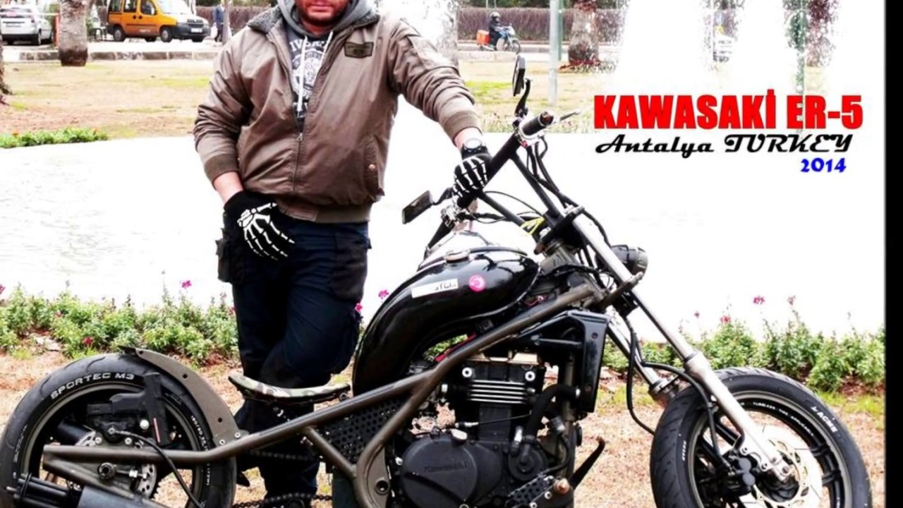 kawasaki er 5 custom bobber youtube. Black Bedroom Furniture Sets. Home Design Ideas