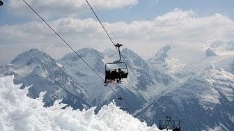 Disentis Auffahrt ins Skigebiet März 2012