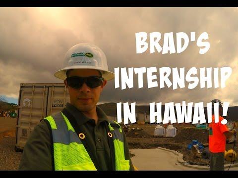 BRAD'S INTERNSHIP IN HAWAII!