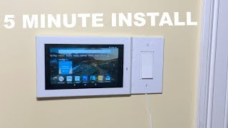 How to WALL MOUNT Amazon Fire 7 TABLET using a SWITCH