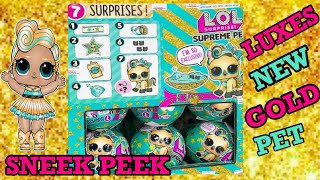 LUXES SUPREME PET LUCKY LUXE SNEEKPEEK & DPCI & BLING SERIES DPCI & CHECKLIST & LOLS that r out now