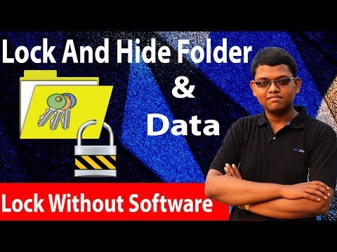 Lock And Hide Folder Without Any Software!! Hide Your Confidential Data  In Hindi