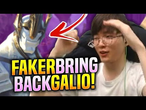FAKER BRINGS BACK GALIO MID! - SKT T1 Faker Plays Galio Vs Vayne Mid!   S9 KR SoloQ Patch 9.17