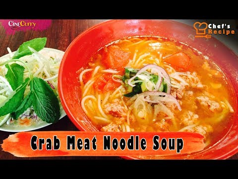 Simple & Easy Crab Meat Noodle Soup Recipe By Chef Tan