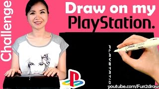 Art Video, Draw on my PlayStation with WHITE SHARPIE Challenge(Art Video, Draw on my PlayStation with WHITE SHARPIE Challenge. This art challenge video shows how I draw some top, popular video game characters on my ..., 2016-05-06T14:30:00.000Z)