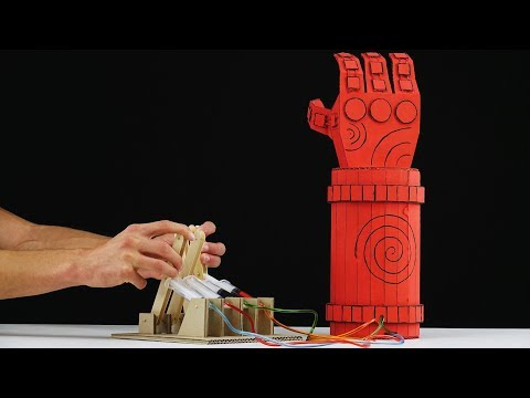How to Make Hellboy Robotic Arm from Cardboard