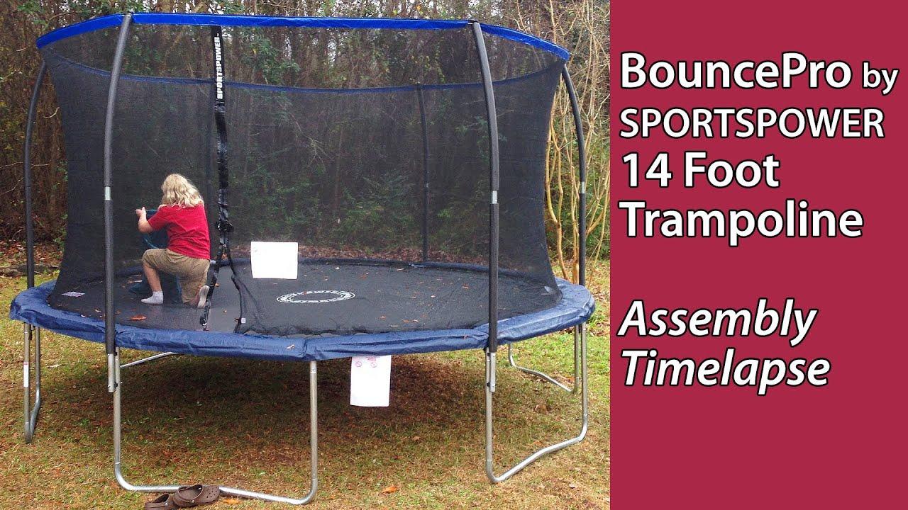 Trampoline -- BouncePro by SPORTSPOWER 14 Foot -- assembly timelapse ...