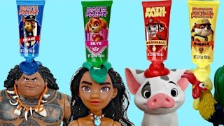 MOANA Deluxe Adventure Set with Paw Patrol Bath Paint | Toys Unlimited