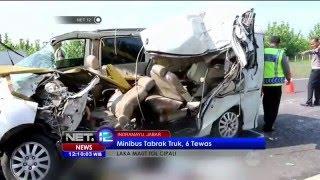 Minibus Tabrak Truk 6 tewas di Tol Cipali - NET12