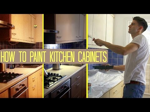 HOW TO PAINT KITCHEN CABINETS CUPBOARDS UK Makeover On A Budget - Which paint to use for kitchen cabinets