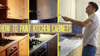 HOW TO PAINT KITCHEN CABINETS / CUPBOARDS UK makeover on a budget