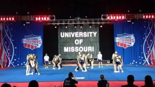 Mizzou Cheer Intermediate Coed 2015