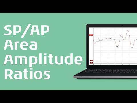 ECochG - Marking the waveforms SP/AP area ratio and SP/AP amplitude ratio