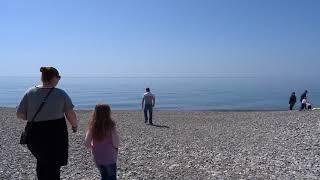 Купаться в апреле в Лазаревском, Сочи. Море, пляж 08 апреля 2018(, 2018-04-09T07:10:26.000Z)