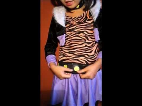 Monster High Clawdeen Wolf Costume Review & Monster High Clawdeen Wolf Costume Review - YouTube