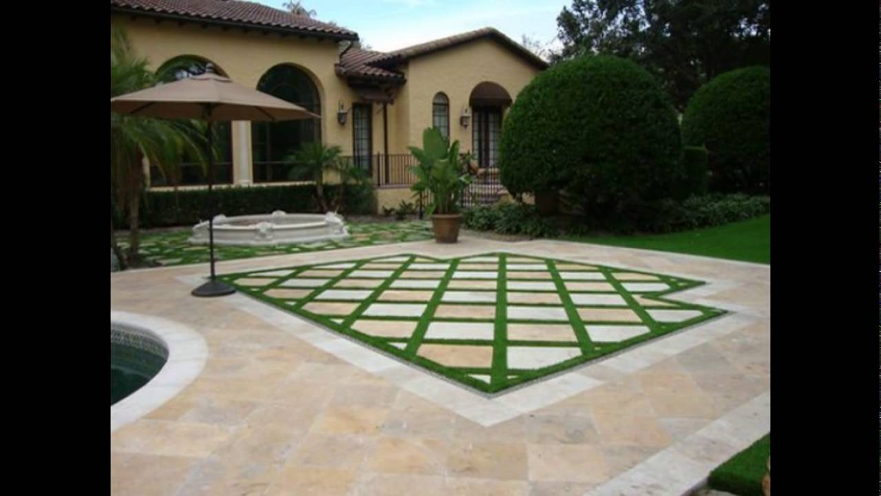 Patio Stones With Grass In Between. Formal Lawn Paving Steppers Patio  Stones With Grass In
