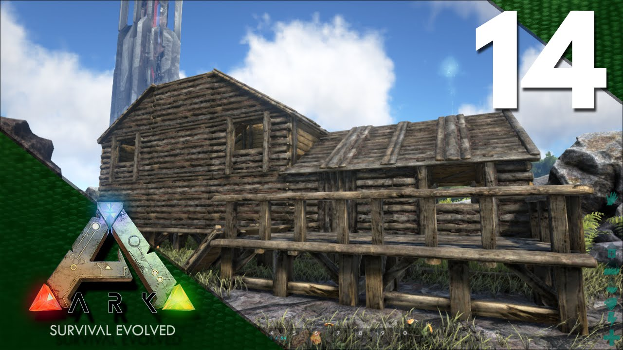 Ark Survival Evolved Gameplay E14 House Build Youtube