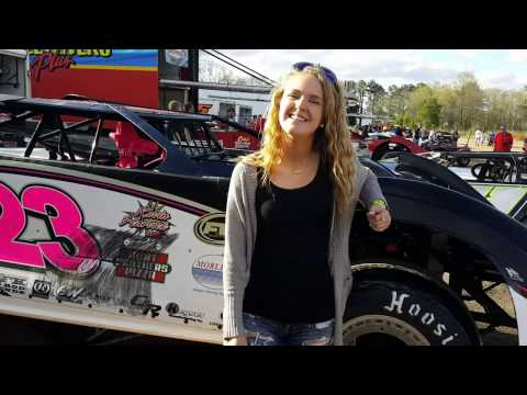 #23 Ahnna Parkhurst - Crate Late Model - 3-31-17 Boyd's Speedway - In-Car Camera