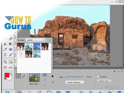 Photoshop Elements Brushes : How To Use The Smart Brush : 15 14 13 12 11 Tutorial