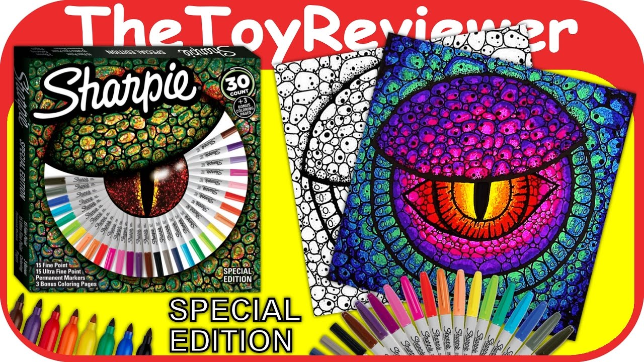 Sharpie 30 Permanent Markers Special Edition 3 Coloring Pages ...
