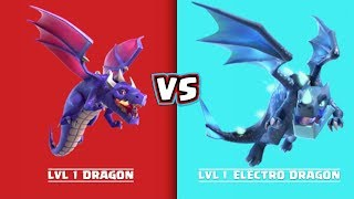 Every Level Dragon VS Every Level Electro Dragon | Clash of Clans