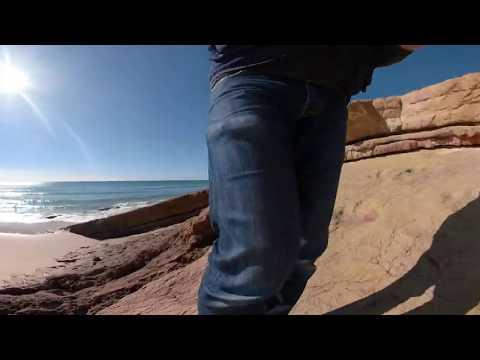Video 360º Pegadas de Dinossauro Praia Santa (Portugal)   Dinosaur Tracks of Santa Beach