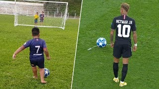 FELIPE TOYS vs NEYMAR JR NO DESAFIO DO TIRO LIVRE