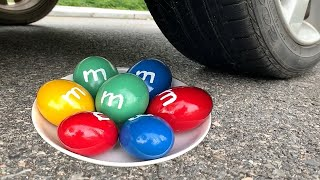 Download Experiment Car vs M&M Candy | Crushing crunchy & soft things by car | Test Ex Mp3 and Videos