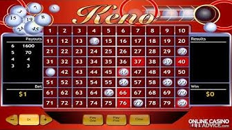 How to Win at Keno Online - OnlineCasinoAdvice.com