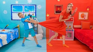 Vlad and Hot vs Cold Challenge with Mom