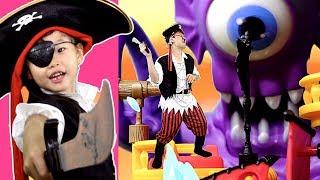 아기 해적선장! 거대 문어괴물을 무찔러라~ 보물섬을 찾아서! 코스튬 장난감 놀이 pirate captain! octopus monster ~ & Toy 라임튜브