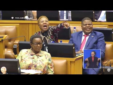 "Jacob Zuma ""I Cant Fire Bathabile Dlamini"" - Parliament"