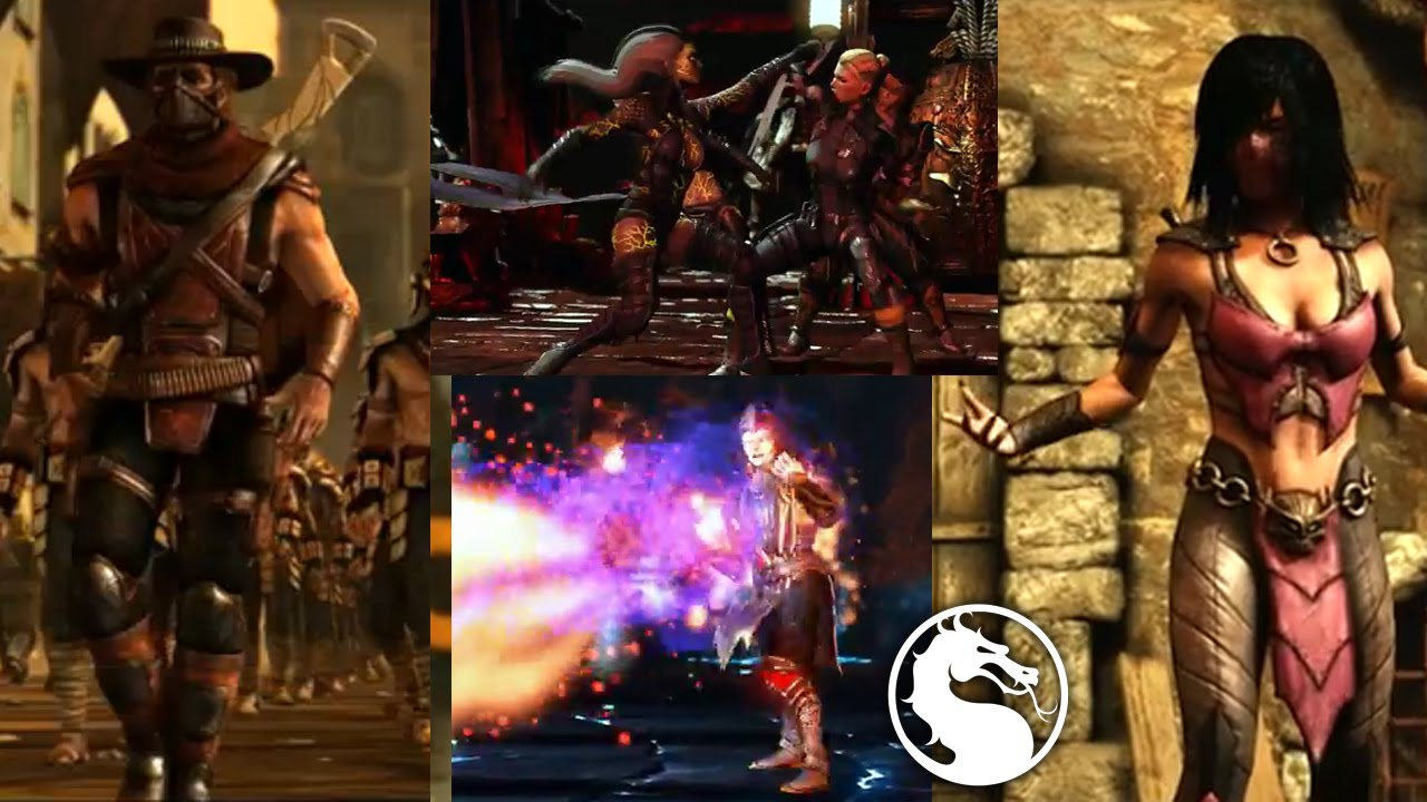 Mortal Kombat X Mileena, Shinnok, Rain, Baraka, Erron Black and Sindel  CONFIRMED