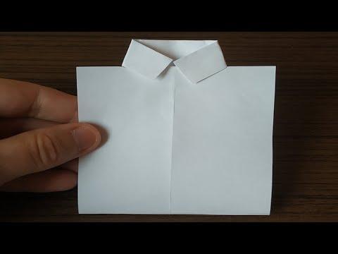 Рубашка из бумаги как сделать оригами
