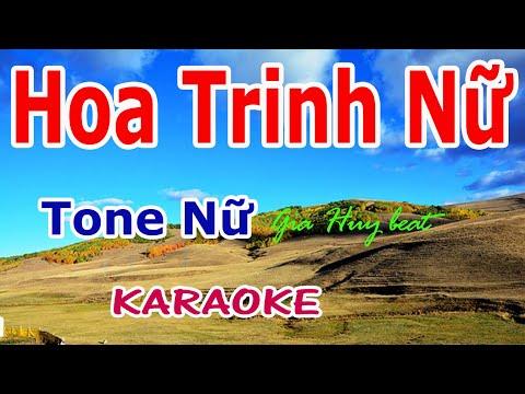 Hoa Trinh Nữ - Karaoke - Tone Nữ - Nhạc Sống - gia huy beat