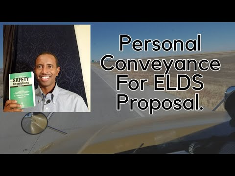 Personal Conveyance Proposal For ELD Mandate