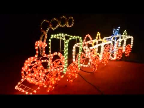 Outdoor Christmas Train Decorations
