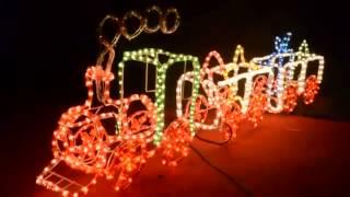 Flashing Train Christmas Lights