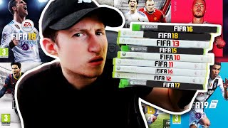 i played every FIFA in one video...