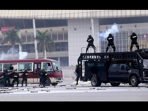 Diễn tập chống...khủng bố bảo vệ �ại hội �ảng 12