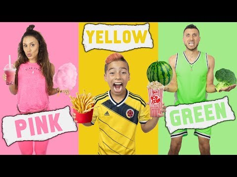 EATING Only ONE COLOR of FOOD For 24 Hours CHALLENGE! | The Royalty Family