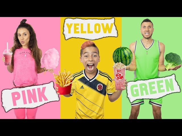 EATING Only ONE COLOR of FOOD For 24 Hours CHALLENGE!   The Royalty Family