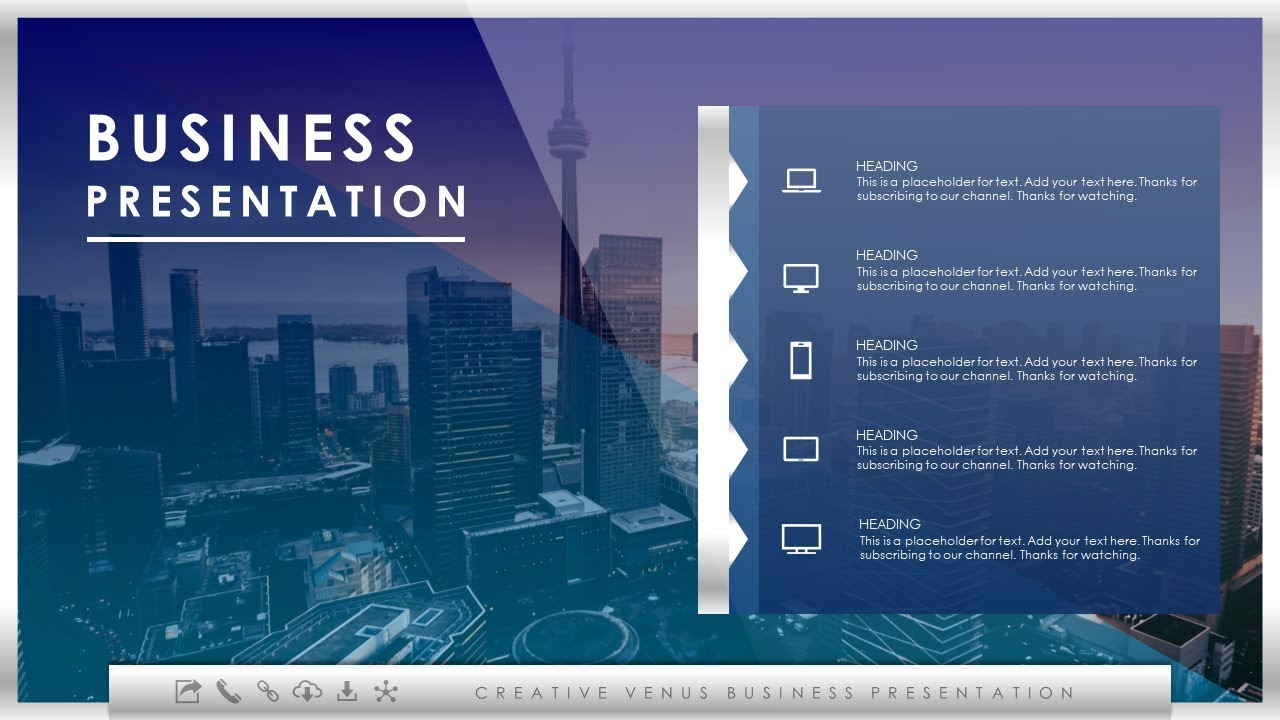 how to create an impressive slide design for business presentation
