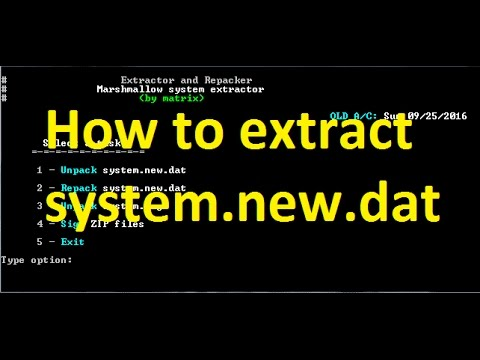 How To Extract System New Dat Any Dat File