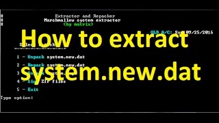 How To Extract System.new.dat /Any DAT File