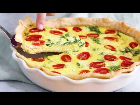 Spinach Ricotta Quiche Youtube